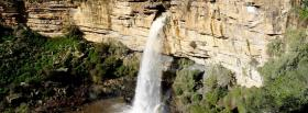 free high waterfall nature facebook cover