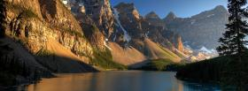 free the moraine lake nature facebook cover