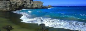 free shore waves nature facebook cover