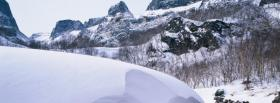 free snowfall nature facebook cover