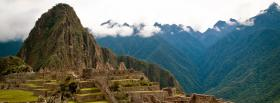 free old machu picchu nature facebook cover