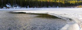 free winter ice nature facebook cover