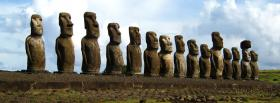 free easter island nature facebook cover