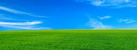 free sky and grass nature facebook cover