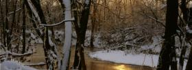free winter sunrise forest nature facebook cover