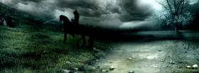 free dark horse sky nature facebook cover