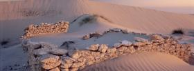 free rocks in the desert nature facebook cover