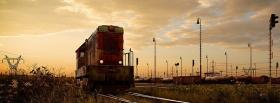 free train and nature facebook cover
