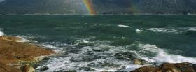 free sea and rainbow nature facebook cover