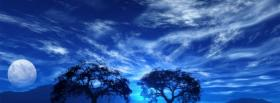 free full moon nature facebook cover