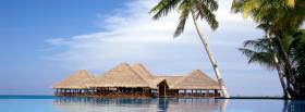free ocean and bungalows nature facebook cover