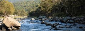 free rocky river nature facebook cover