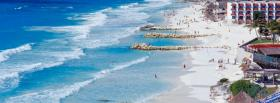free mexico cancun beach nature facebook cover