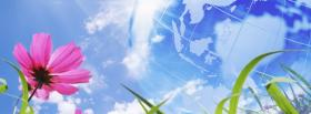 free flower and globe nature facebook cover