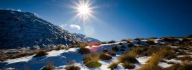 free winter sun nature facebook cover