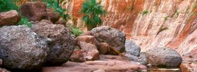 free big rocks greens nature facebook cover