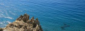 free ocean big rock nature facebook cover