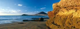 free big rock beach nature facebook cover