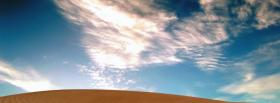 free desert and sky nature facebook cover