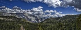 free woodland mountains nature facebook cover