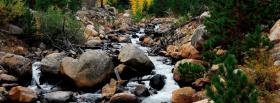 free river rocks nature facebook cover