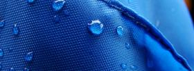 free rain drops blue nature facebook cover