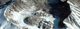 free snowy mountains nature facebook cover