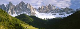 free snow and green mountains facebook cover