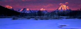 free winter sunrise nature facebook cover
