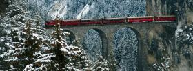 free train in the mountains nature facebook cover