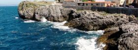 free waves and rocks nature facebook cover