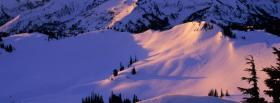 free snow scenery nature facebook cover