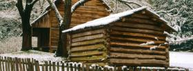 free winter cabin nature facebook cover
