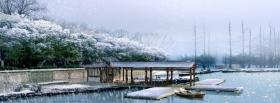 free winter and rain nature facebook cover