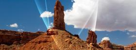 free rocky scenery nature facebook cover