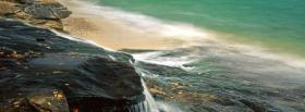 free water on rocks nature facebook cover