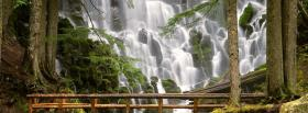 free waterfalls in forest nature facebook cover