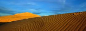 free sand desert nature facebook cover