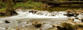 free small waterfall nature facebook cover