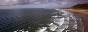 free waves on shore nature facebook cover