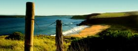 free simple beach nature facebook cover