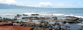 free view of beach nature facebook cover