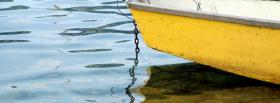 free yellow boat shore nature facebook cover