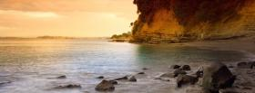 free sunset on the beach facebook cover