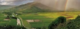 free rainbow big mountain nature facebook cover