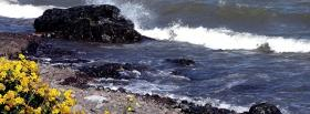 free strong wave rock nature facebook cover