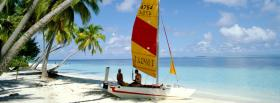 free yellow red boat nature facebook cover