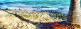free sand ocean nature facebook cover