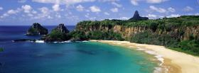 free ocean shore sand nature facebook cover