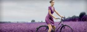 free purple garden woman nature facebook cover